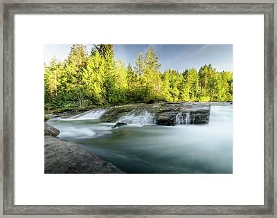 Nymph Falls, Vancouver Island Framed Print