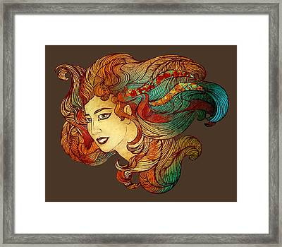 Nymph Framed Print by Irina Effa