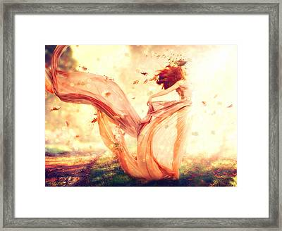 Nymph Of October Framed Print by Lilia D