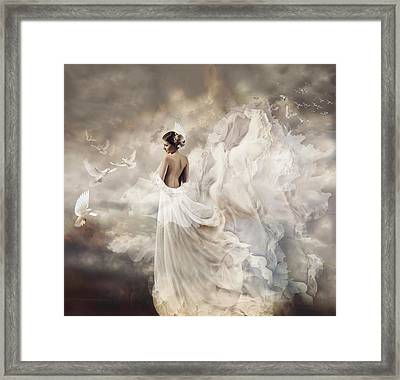 Nymph Of The Sky Framed Print