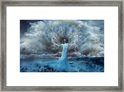 Nymph Of  The Water Framed Print by Lilia D