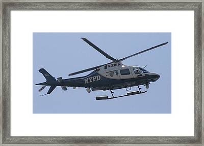 Nypd Aviation Unit Framed Print by Christopher Kirby