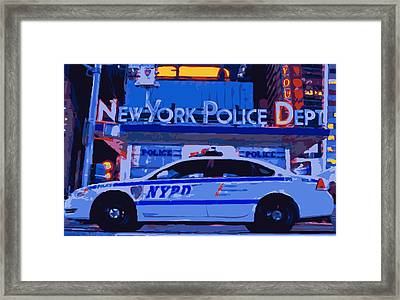 Nypd Color 16 Framed Print by Scott Kelley