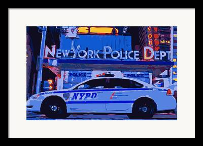 New York Police Station Framed Prints