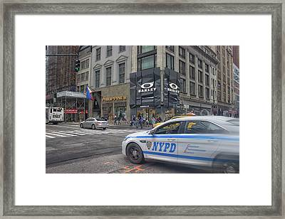 Nypd Framed Print