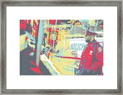 N Y P D Framed Print by Shay Culligan