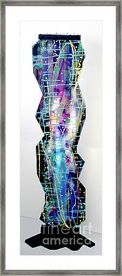 Framed Print featuring the painting Nyx - Night Goddess by Mordecai Colodner