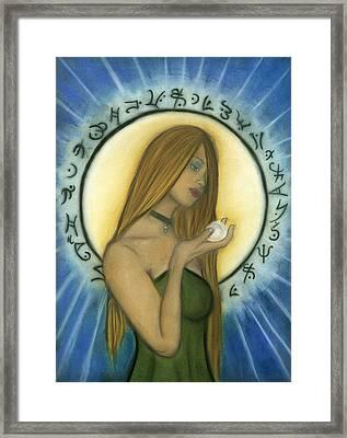 Nyx Goddess Of Night Framed Print by Natalie Roberts