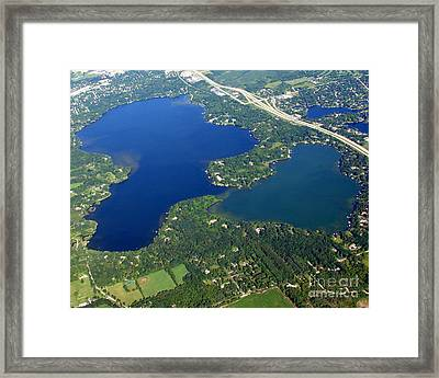 O-008 Oconomowoc Lake Waukesha County Wisconsin Framed Print