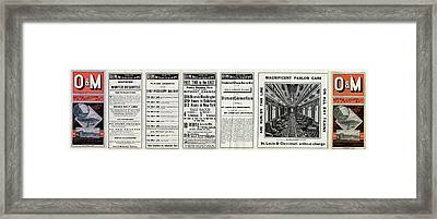 O And M Timetable Framed Print