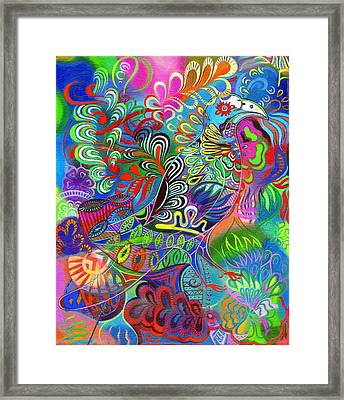 O Bird Among The Leaves Framed Print by Jane Tattersfield