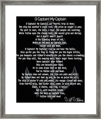 O Captain My Captain Anchor Framed Print