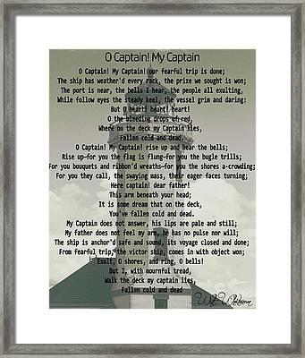 O Captain My Captain Lighthouse Framed Print