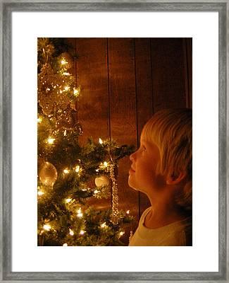 O Christmas Tree Framed Print by Deena Keller