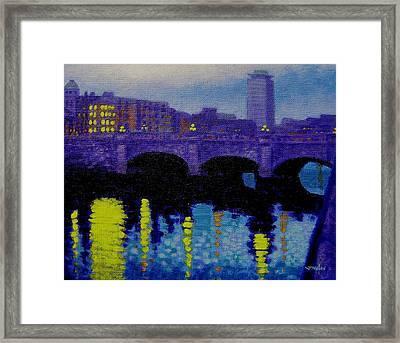 O Connell Bridge - Dublin Framed Print by John  Nolan