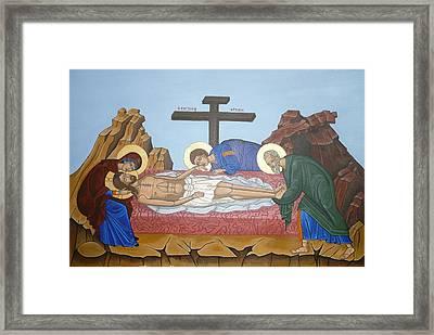 O Epitafos Jesus Framed Print by Marinella Owens