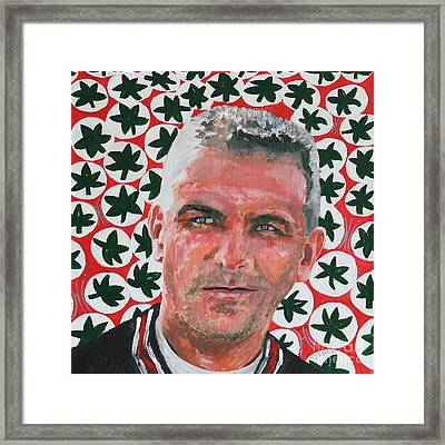 O H  Urban Meyer Portrait Framed Print