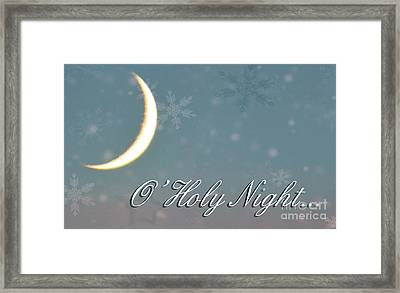 O Holy Night Framed Print by Billie-Jo Miller