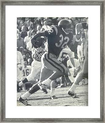 O J Simpson - Rose Bowl 1969 Framed Print