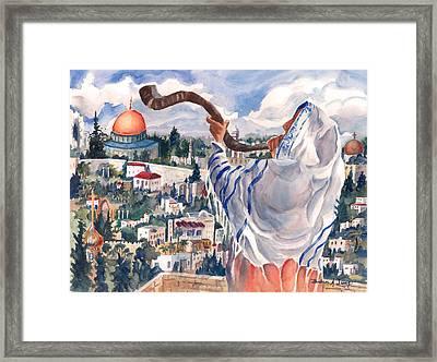 O Jerusalem Framed Print by Barbara Jung