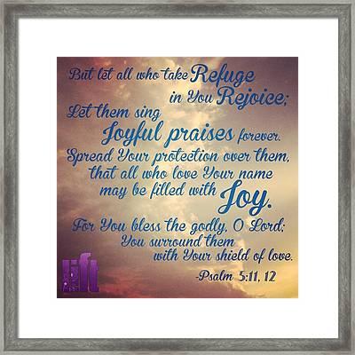 O Lord, Hear Me As I Pray;  Pay Framed Print