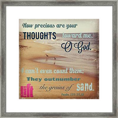 O Lord, You Have Examined My Heart  And Framed Print