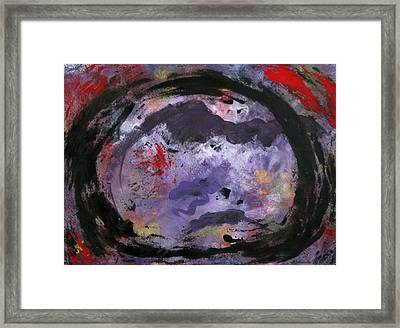 Framed Print featuring the painting O by Mordecai Colodner