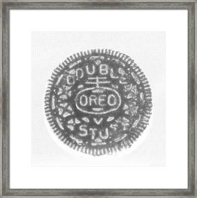O R E O In Black Negative Framed Print by Rob Hans