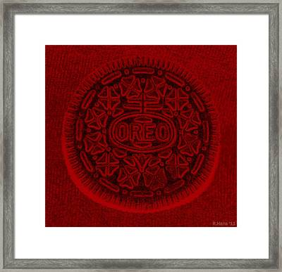 O R E O In Red Framed Print by Rob Hans