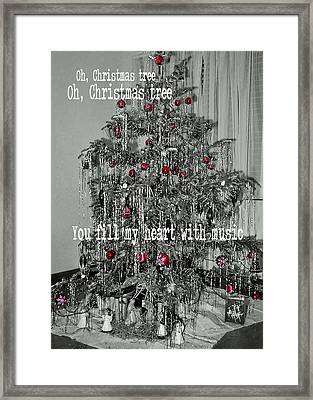 O Tannenbaum Quote Framed Print by JAMART Photography