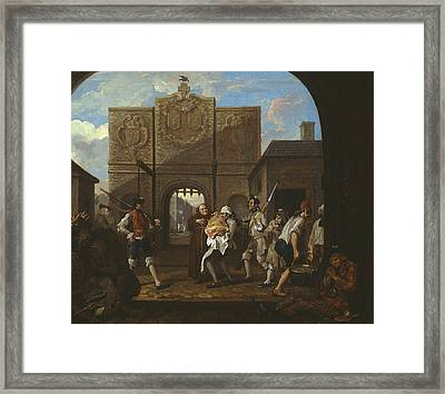 O The Roast Beef Of Old England Framed Print by William Hogarth