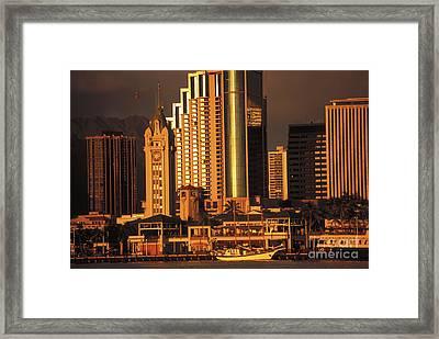 Oahu, Aloha Tower Framed Print by Dana Edmunds - Printscapes