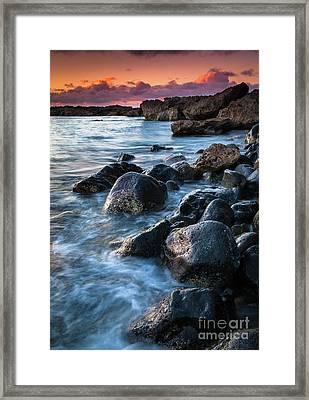 Oahu Boulders Framed Print by Inge Johnsson