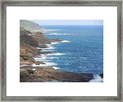 Oahu Coastline Framed Print