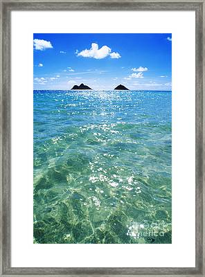 Oahu, Lanikai Beach Framed Print by Carl Shaneff - Printscapes