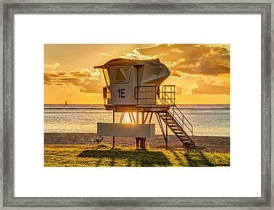 Oahu Lifeguard Framed Print