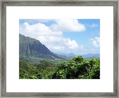 Oahu Mountain Framed Print by Dawn Marie Black