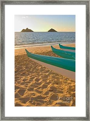 Oahu, Outrigger Canoes Framed Print by Tomas del Amo - Printscapes