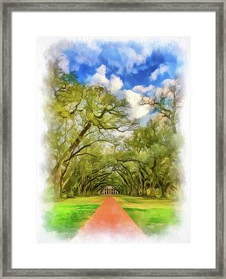 Oak Alley 7 - Paint Vignette Framed Print by Steve Harrington