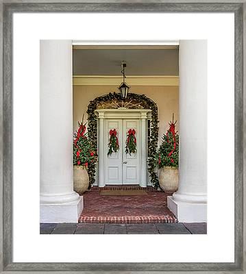 Oak Alley Plantation Doors Framed Print