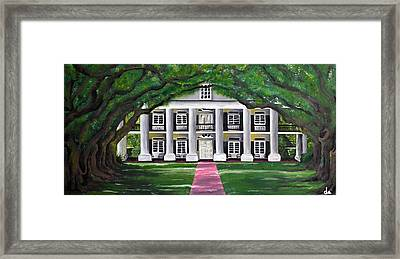 Oak Alley Plantation Framed Print by Drew Enderlin