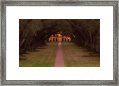 Oak Alley Plantation Framed Print by Jonas Wingfield