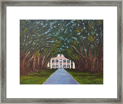 Oak Alley Plantation Framed Print by Judy Jones