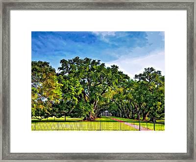 Oak Alley Plantation Framed Print by Steve Harrington