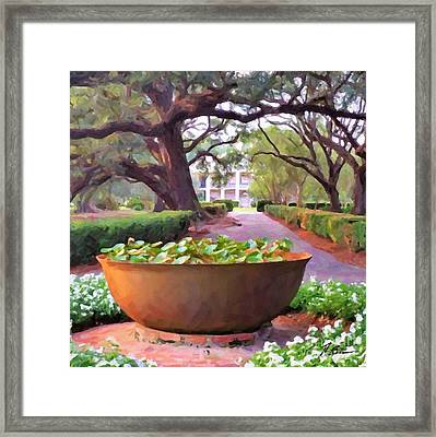 Oak Alley Plantation Sugar Pot Framed Print by Tammy Lee Bradley