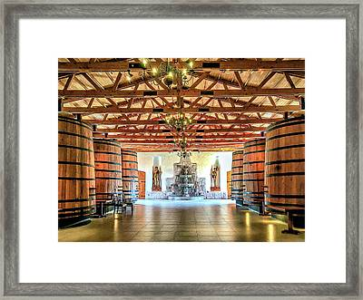 Oak Barrels Framed Print