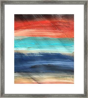 Oak Creek #27 Southwest Landscape Original Fine Art Acrylic On Canvas Framed Print