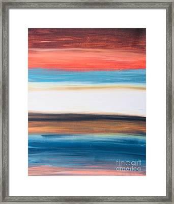 Oak Creek #29 Southwest Landscape Original Fine Art Acrylic On Canvas Framed Print