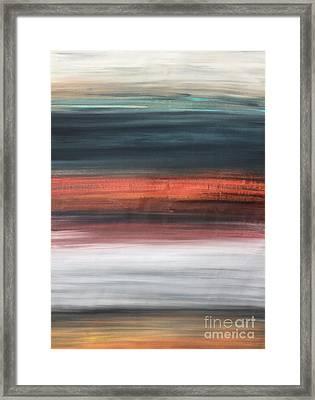 Oak Creek #30 Southwest Landscape Original Fine Art Acrylic On Canvas Framed Print