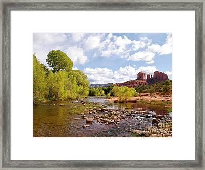 Oak Creek Framed Print by Alex Cassels